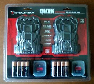 Stealth Cam Infrared Trail Cam Kit QV1K, 2-Pack w/ Batteries & 16GB Cards New