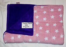 WEIGHTED BLANKET 1.7kg shoulder lap AUTISM Aspergers ADHD pink stars other cols