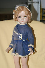 "Vintage 20"" Arranbee Nancy Lee Ice Skater Composition Doll Blue Skating Outfit"