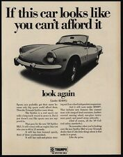 1969 TRIUMPH SPITFIRE Mk3 Convertible Sports Car - LOOK AGAIN - VINTAGE AD