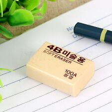 4B Rubber Eraser Pencil Drawing Writing Cleaner Stationery School Office Supply