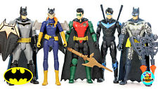DC Comics Batman Missions Nightwing Robin Bagirl Action Figures Lot of 5 USED