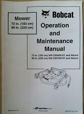 "Bobcat 72"" 90"" TOSAERBA MANUALE Operatori"