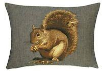 "18"" X 13"" Squirrel Cushion Belgian Tapestry Wildlife Animals"