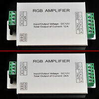 DC 12V-24V 12A/24A Signal RGB Amplifier Repeater for 3528 5050 LED Strip Light