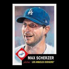 2021 TOPPS LIVING SET # 450 MAX SCHERZER Los Angeles Dodgers