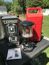 Unfired Coleman 222B Lantern With Box And Carrier Case ! 10/92 !