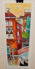 MONICA MARTIN LIMITED EDITION HAND SIGNED AND COLORED ITALIAN STREET SCENE PRINT