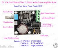 DC12V Mini D-Class Dual Channel Digital Audio Amplifier Board 15W*2 Power Module
