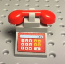 Lego City Town Mini Figures Telephone / Home Phone Utensil (custom Set Up)