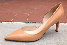Max Mara Women's Shoes Beige Patent Leather Pointy Toe Pumps Heels Size 7 (37)