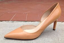 Max Mara Women's Shoes Beige Patent Leather Pointy Pumps Heels Size 9.5 (39.5)