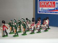 Ducal Guardie Irlandesi TUBI + TAMBURI banda marching METAL Toy Soldier Figure Set
