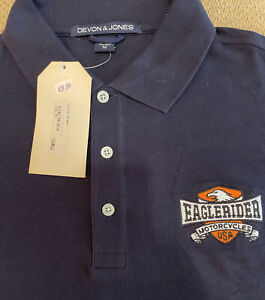 Eaglerider Motorcycle Rentals Vintage Golf Shirt, New With Tags