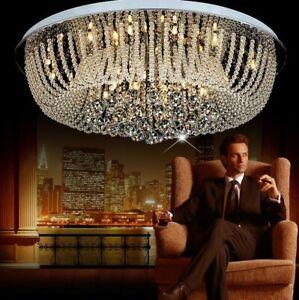 Elegant Modern Clear Crystal Ceiling Fixture Lamps Chandelier LED Lighting 97110