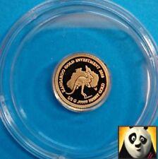 2010 Rare PALAU $1 One Dollar Australian Kangaroo 24K Gold Proof Coin + COA