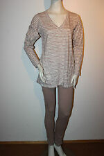 "Triumph Pyjama ""BeeDees Soft Heart 153 PK2"" Loungewear Gr.38 beige gestreift"