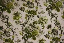 Schumacher Curtain/Upholstery Fabric Design Elizabeth acid green/grey 1.5 metres