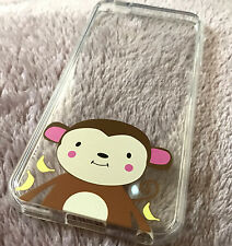 iPod Touch 5th / 6th Gen - CLEAR Monkey Hard TPU Rubber Transparent Case Cover
