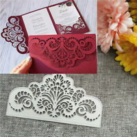 Crown Lace Metal Cutting Dies Invitation Card Scrapbooking Wedding Craft Decor