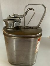 New listing Vintage Eagle No.1301 Stainless Steel 1 Gallon Gas Can Laboratory Safety-C37