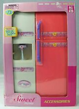 Barbie-size Sweet Home Refrigerator Battery Operated Light Water Sound NIB NRFB