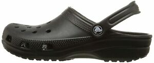 Crocs Mens Alligator Slip On Casual Clogs, Black, Size 12.0 y6TI