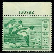 Us #Rw16 $2.00 Goldeneye ducks, Plate No. Single, og, Nh, Scott $70.00