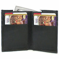 Men's GENUINE LEATHER Bifold Money Thin Wallet  ID Credit 6+ Cards Front Pocket