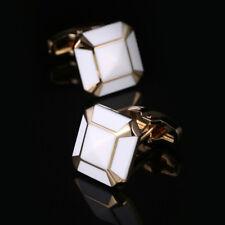 New White European French Cufflinks Men's Shirt  Enamel Cufflinks Wedding Gift