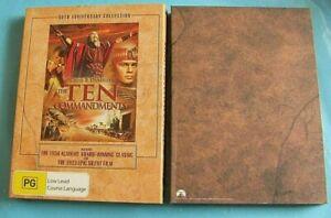 THE TEN COMMANDMENTS 50th Anniversary DVD 3 Discs with 1923 Silent Film Reg 4