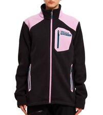 New! MARMOT OPENING CEREMONY Black & Pink Wrangell Fleece Zip Up Jacket XS $175