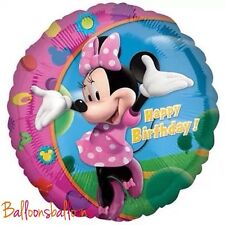 """MINNIE MOUSE BALLOON 18"""" Foil HAPPY BIRTHDAY Kids Party, UK SELLER Helium"""
