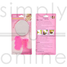 Nail Art Stamping Stamper Kit with Image Plate & Scraping Scraper Tool