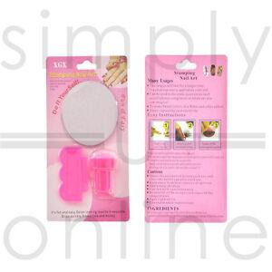 Nail Art Stamping Stamper Kit with Image Plate & Scraping Scraper Tool