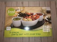 Food Network 3 Piece Party Set With Tray