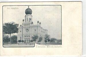 Judaica, Hungary, Kecskemet, Synagogue, Early Postcard