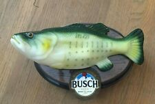 New listing Rare Busch Beer Big Mouth Billy Bass Animated Singing I Love Busch Beer Nib