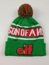 Elf Movie Cuff Pom Beanie Son of A Nutcracker Knit Hat Winter Hat Men Women