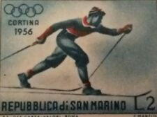 San Marino 1955  Winter Olympic Games Cortina Stamp - Ski Walker