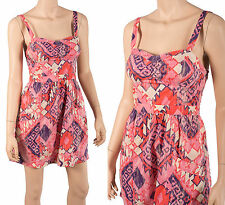 American Eagle 0utfitters sz 8 M Gathered Pink Purple Bandeau Dress Summer NEW