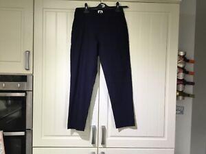 Ladies FOOTJOY Golf Stretch Trousers - Navy - Size UK 12 - Elasticated Waist