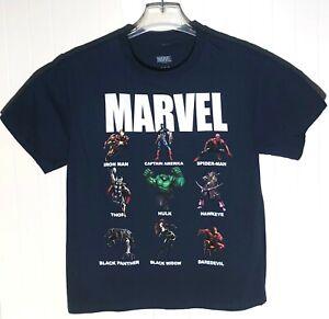 Marvel Boys' Size Large Blue Superhero Graphic T-Shirt