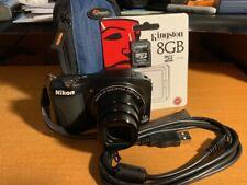 Nikon COOLPIX L610 16.0MP Digital Camera - Black + Case + 8GB Card