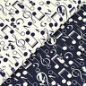 Cotton Fabric by FQ Music Song Note Violin Saxophone & Kitty Cat Patchwork VK100