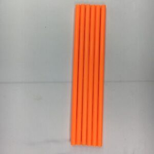 Tinker Toy 6 Orange Rods 10.5 Plastic Tinkertoys Replacement Pieces