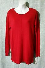 NWT Liz Lange Maternity RED Knitted Pull-Over Tunic/Sweater XS,M,XL Rayon/Nylon