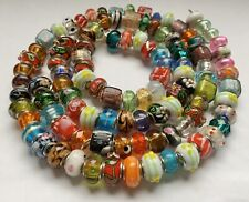100 PCS European Glass Beads, Mixed Colors & Styles ~ For Charm Jewelry Designs