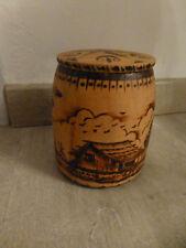 boite en bois pyrogravure deco paysage deco ethnique vintage
