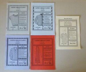 5 x Busy Bee Garter Carriage booklets